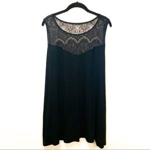 Torrid Black Lace Swing Tank Top